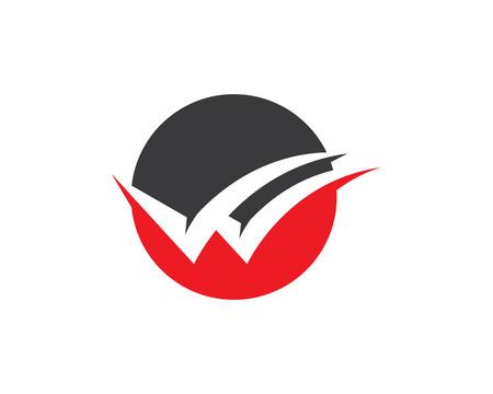 V letters business emblem and symbols template Illustration