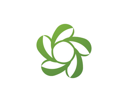 Vector leaves green nature logo and symbol Illustration