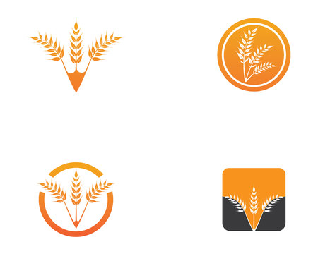 rice food meal logo and symbols