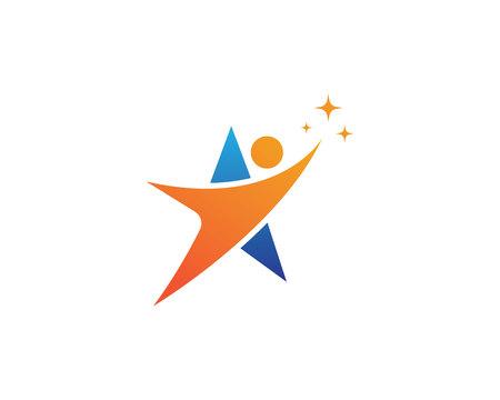 Star people success Logo Template