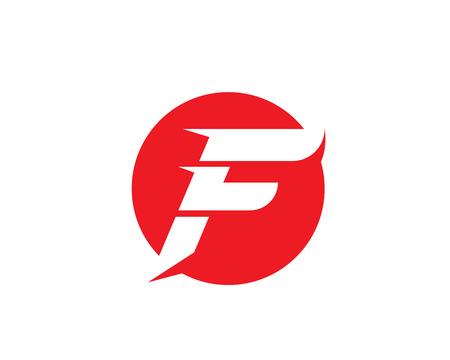 Fast line F letter logo monogram Stock Vector - 83392518