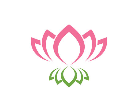 Vector - Lotus Flower Sign for Wellness, Spa and Yoga. Vector Illustration