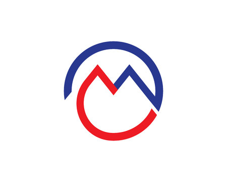 M letters logo and symbols