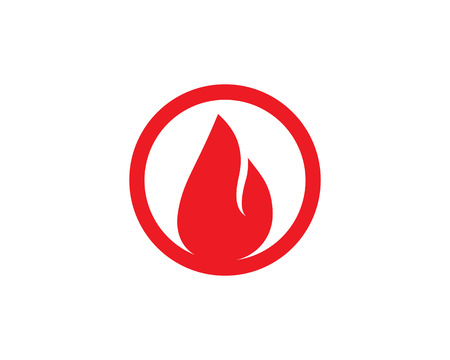 Fire flame hot logo and symbols