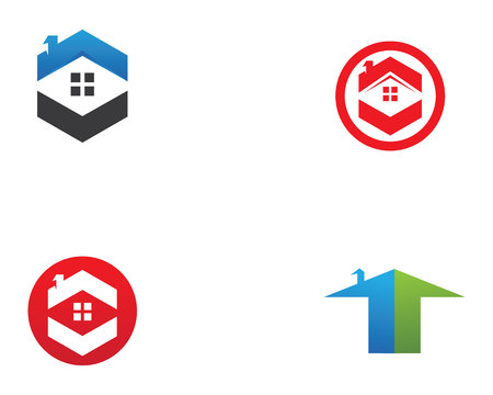 house logo: Real estate and home buildings logo icons template