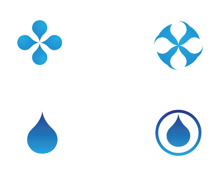 drop water: Water nature logo and symbols template icons app