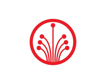 internet cable logo  and symbols Illustration