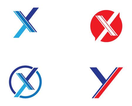 X Letter Template vector icon design Illustration