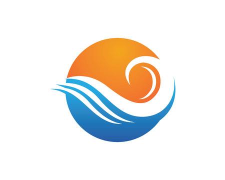 Waves beach logo and symbols template icons app Çizim