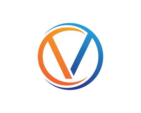 V letters logo Vector illustration. Ilustrace