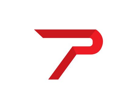 rainbow: Business corporate letter P logo design vector