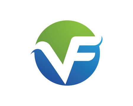 VF letters logo vector illustration.