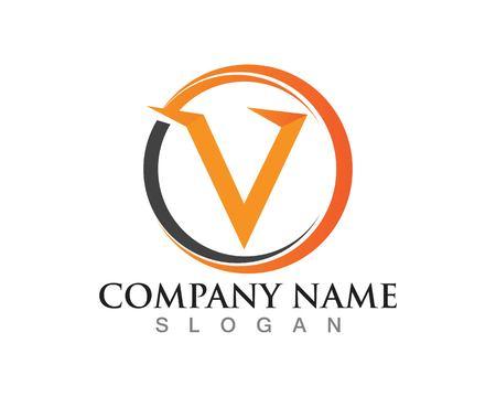 V letters logo