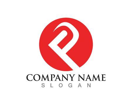 rainbow: P letters logo Illustration