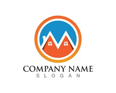 Home  and buildings logo Illustration