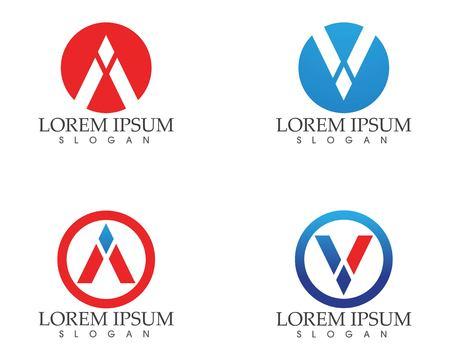 Un & # 39 ; icona di vettore di logo di logo di progettazione di logo di affari di logo di lettera di lettera di lettera