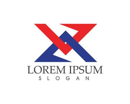 slope: X Letter Logo Template vector icon design