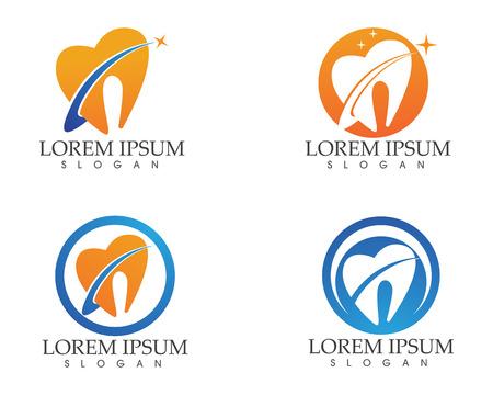 Dental care symbols template.