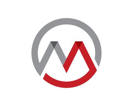 文字 M のベクトルのアイコンそのようなロゴのテンプレート