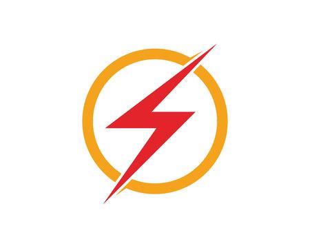 Modèle de logo et de symboles icône foudre Vector Banque d'images - 88917154