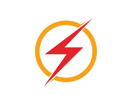 Vector lightning icon logo and symbols template Ilustrace