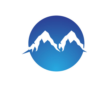 Mountain nature landscape  logo and symbols  icons template Illustration