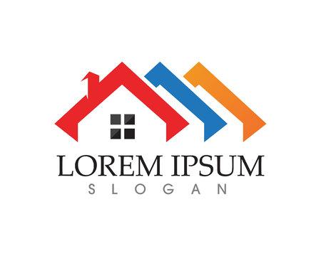 eigenschap huis en huis logo's sjabloon vector