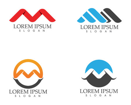Letter M vector icons such logos template