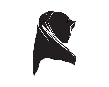 hijab woman logo
