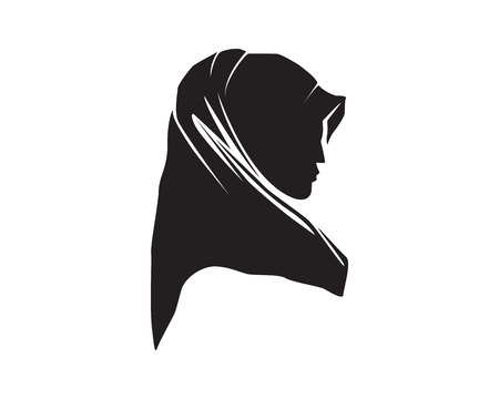 hijab woman logo