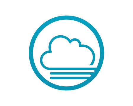 Cloud servers data logo and symbols icons flat design vector illustration