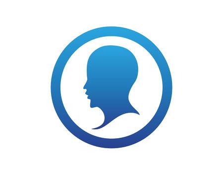 head man logo vector Illustration