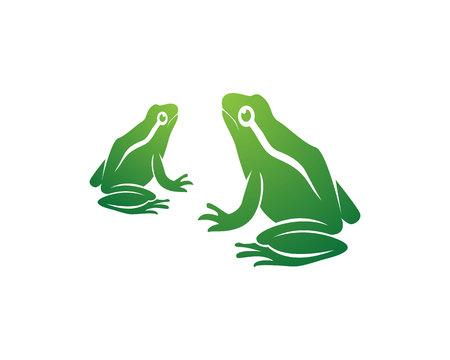 Frog icons vector Illusztráció