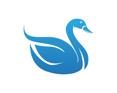 Swan logo and symbols animals template icons