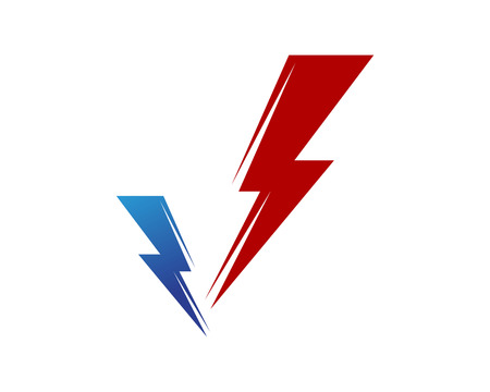 Lightning Logo Template vector icon illustration design.