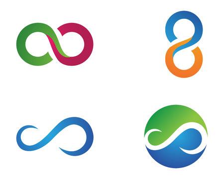 Infinity Design Infinity Logo Vektor Logo Vorlage Illustration