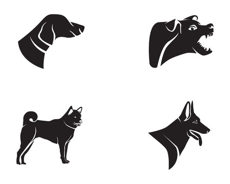 Dog symbols icon design. Illustration