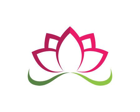 Lotus Flower Sign for Wellness, Spa and Yoga. Vector Illustration. Illustration