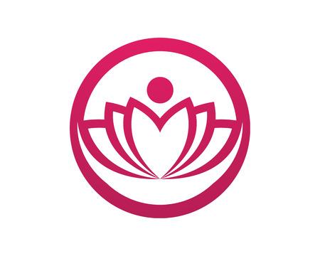 Lotus Flower Sign for Wellness, Spa and Yoga. Vector Illustration  Illustration