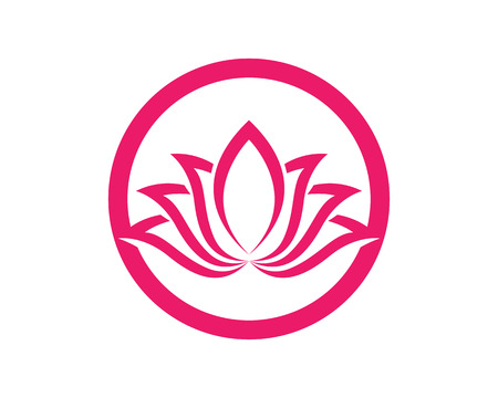 Lotus Flower Sign for Wellness, Spa and Yoga. Vector Illustration. Illustration