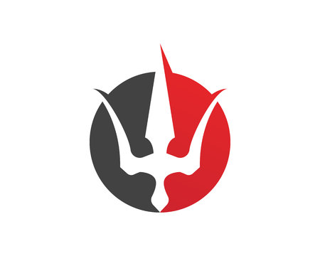 Magic trident and symbols template vector