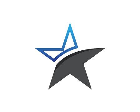 Star Logo and symbols icons Template app Illustration