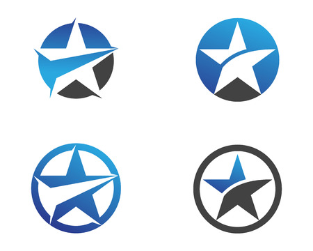 Star symbols icons template design.