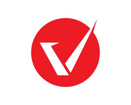 V letters business symbols template.