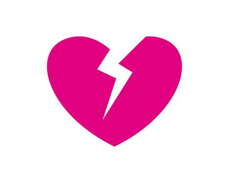 Broker heart symbol icon template design.