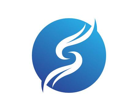 S Business corporate letter logo design vector
