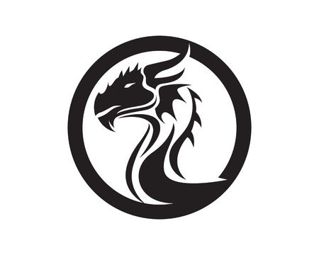 Dragon animals logo and symbols icons template app  イラスト・ベクター素材