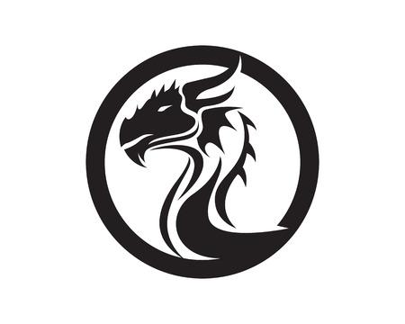 Dragon animals logo and symbols icons template app Illustration