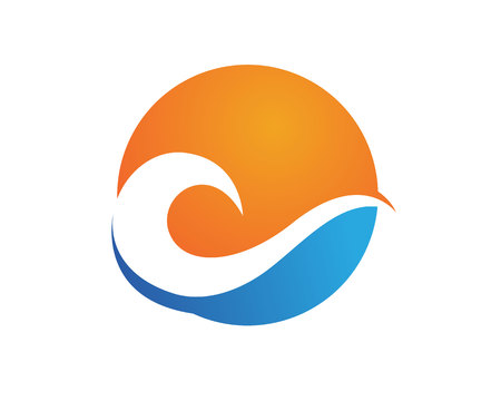 Waves beach logo and symbols template icons app Illustration