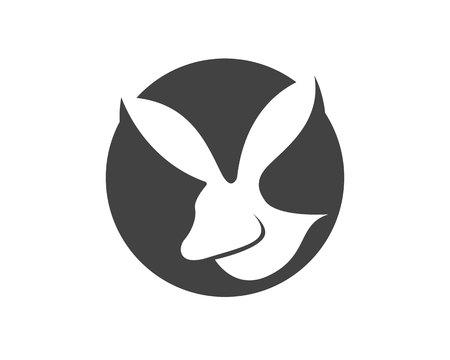 Rabbit symbols template.